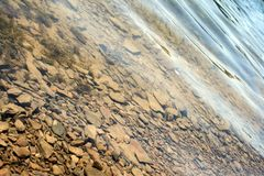 Stones beneath the surface Royalty Free Stock Photo