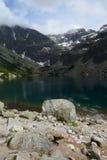 Stones at black pond (Czarny Staw Gasienicowy). In Tatra mountains nearby Zakopane in Poland Stock Image