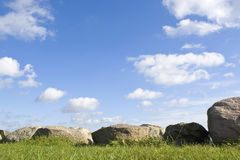 Stones, with blue sky Stock Photography