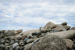 Stones with blue sky background Stock Photography