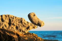 Stones on the boulder Stock Photo