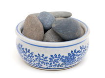 Stones in a bowl Royalty Free Stock Image