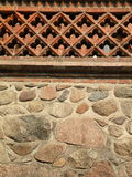 Stones and brick wall Stock Photo