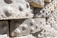 Stones briks texture background closeup. Royalty Free Stock Photography