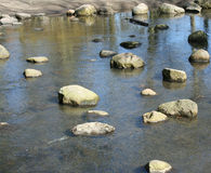 Stones in a brook. A lot of stones in a park brook Stock Photos