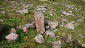 Stones in Cairngorm. Cairngorm Mountain Scotland Highlands Mist Stock Photos