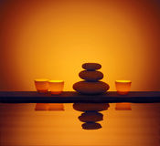 Stones Candle Water Royalty Free Stock Photo