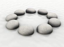 Stones in circle Stock Photos