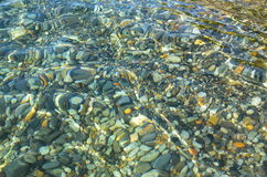 The stones in the clear water marine Royalty Free Stock Photo