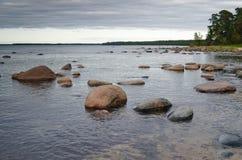 Stones on coast of sea Stock Photo