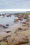 Stones on coast of sea Royalty Free Stock Photo