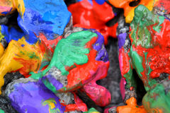 Stones with colorful paint Royalty Free Stock Photo