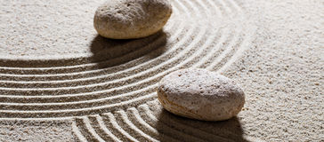 Stones for concept of different directions with inner peace Royalty Free Stock Photos