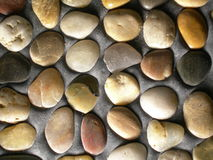 Stones in concrete. A lot of stones royalty free stock photography