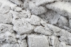 Stones covered with hoarfrost Stock Images