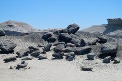 Stones in desert, Valle de la Luna Stock Image