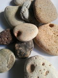 Stones of different textures and colours, grouped Stock Images
