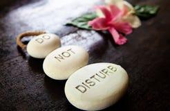 Stones Do Not Disturb royalty free stock photo