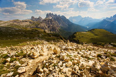 Stones in Dolomites Mountain Stock Images