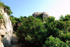 The stones in Dongao Island Royalty Free Stock Photo