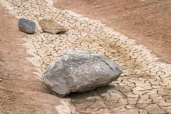 Stones in a dry river Royalty Free Stock Image