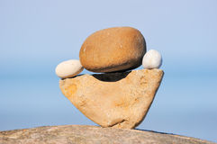 Stones in equilibrium Stock Photos
