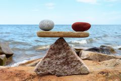 Stones in equilibrium Royalty Free Stock Photography