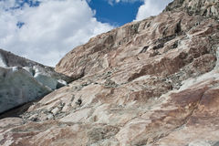 Stones eroded by glacier Stock Images
