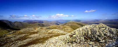 Stones on Esk Pike Royalty Free Stock Photos