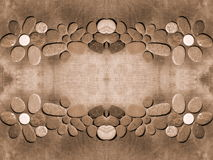 Stones on fabric royalty free stock images