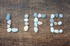 Stones  form  word of life Stock Images