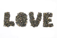 Stones forming the word love Royalty Free Stock Image