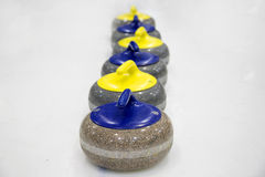 The stones for game in curling Royalty Free Stock Photo