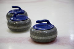The stones for game in curling Royalty Free Stock Photos