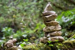 Stones in a garden stock photo