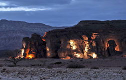 Stones of Geological Park Timna Royalty Free Stock Photography
