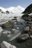 Stones and Glacial Ice, Alaska Royalty Free Stock Photography