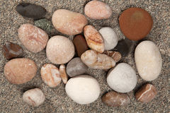Stones on a granite gravel Royalty Free Stock Images