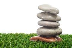 Stones on the grass Stock Photo