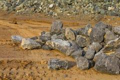 Stones, gravel road Stock Image