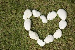 Stones heart Stock Image
