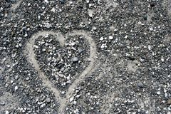 Stones heart background Stock Images