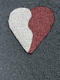 Stones heart royalty free stock photos