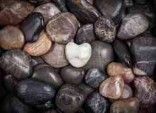 Stones with heart Royalty Free Stock Image