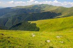 Stones on the hillside of mountain range Royalty Free Stock Photo