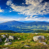 Stones on the hillside royalty free stock images