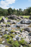 Stones and Hot Spring Stream Stock Image