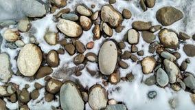Stones and ice Stock Photo