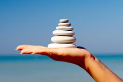 Free Stones In A Hand Stock Image - 2128571