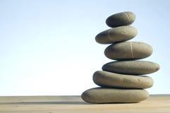 Stones In Balanced Pile Stock Photo